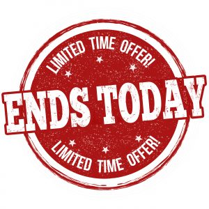 Sales End Today